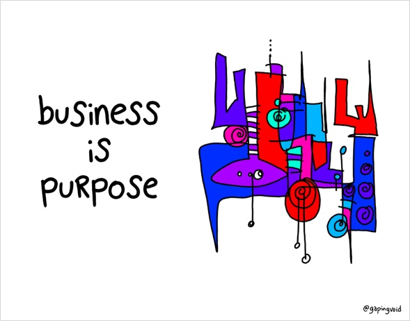business is purpose (Hugh MacLeod)