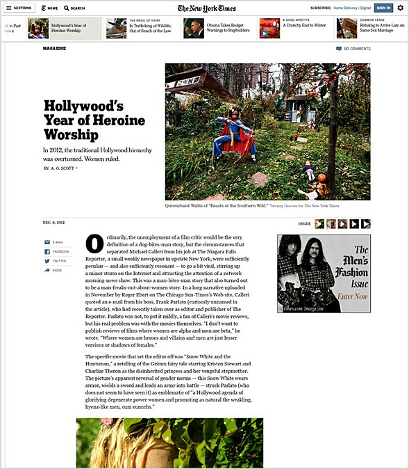 NYTimes redesign for improced handling with mobile devices