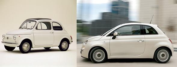 Fiat 500 einst u. heute