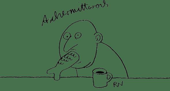 Aschermittwoch Zeichnung ©Raphael Wünsch