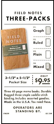 Field Notes Dreierpack €12.30