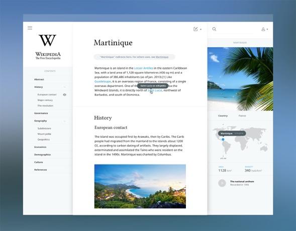 Salomon Aurélien's new Wikipedia design, Martinique example.