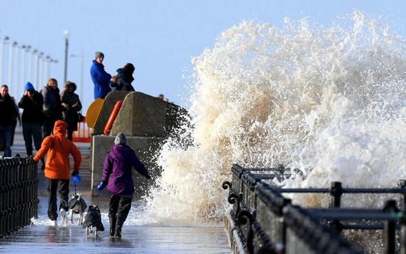 Atlantik Front bei New Brighton. Foto: Peter Byrne:PA