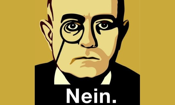 Theodor W. Adorno. Der Twitter Aavatar von Nein. Illustration von Lucas de Groot.