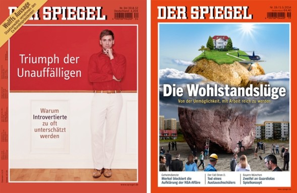 Spiegel Magazin transformation. Before - After.