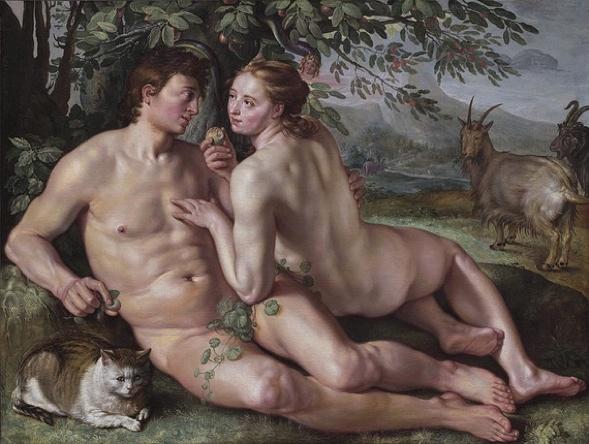 Hendrik Goltzius' Der Sündenfall (Wikimedia Commons)