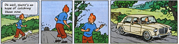 Hergé TinTin The black island