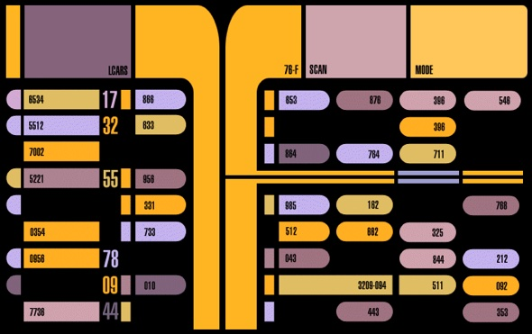LCARS Armatur von der U.S.S. Enterprise NCC-1701 D