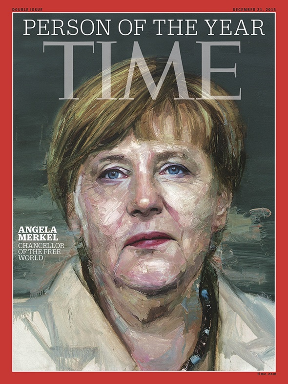 Angela Merkel als Person des Jahres auf Times Titel.