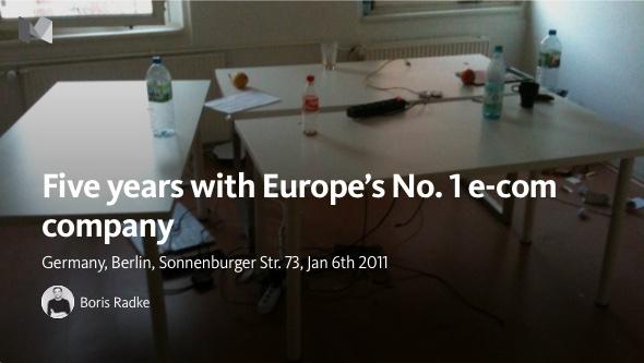Konferenzraum von Europa's No. 1 E-Kommerz  Firma. Quelle: Medium.com