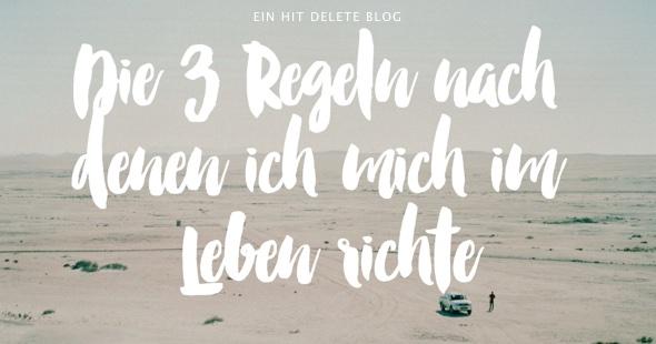 """""""3 Regeln"""" Titel von Rob Hope"""