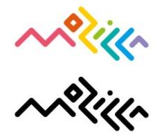 Mozilla logotype sample connected