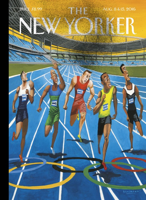 August title for New Yorker magazine by Mark Ulriksen