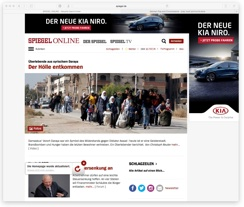 Spiegel Online mit Anzeige