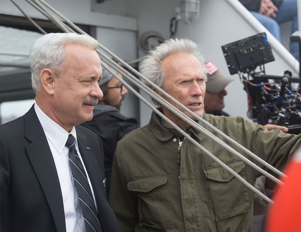 Tom Hanks with director Clint Eastwood