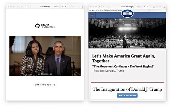 Obama Foundation und The White House: Zwei neue Webseiten und was sie hinter den Kulissen verraten.