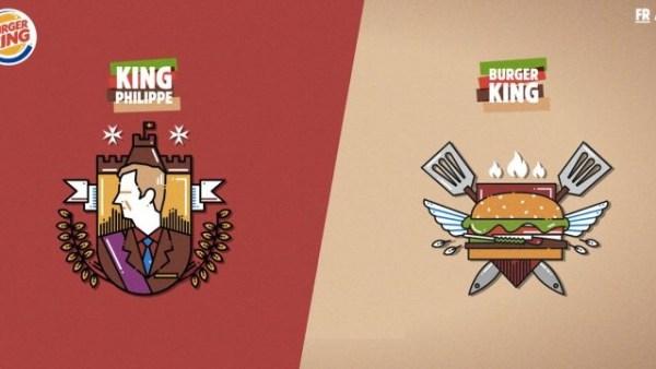 Wer ist der König, frägt Burger King und der König von Belgien antwortet