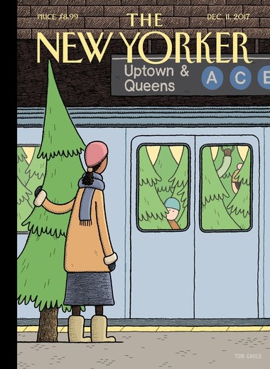 """Holiday Track,"" von Tom Gauld Titelbild The New Yorker, 11. Dezember, 2017."
