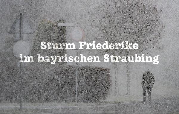 Sturm Friederike im bayrischen Straubing (dpa)
