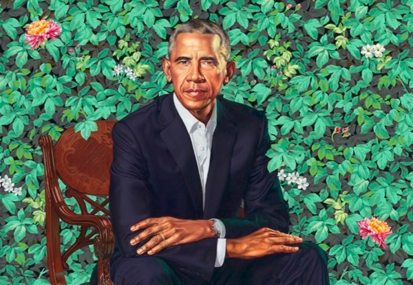 Kehinde Wiley's portrait of Barack Obama