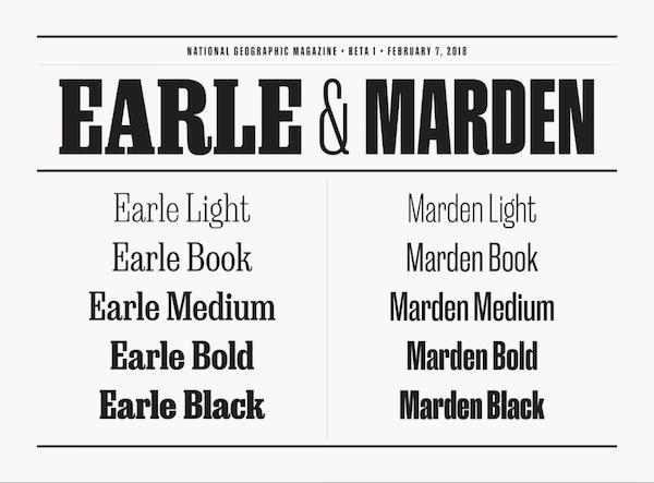 Earle & Marden Typografie für NatGeo.