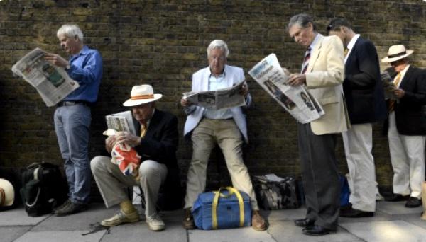 Wimbledon Queuing in best English. Source: Quartz