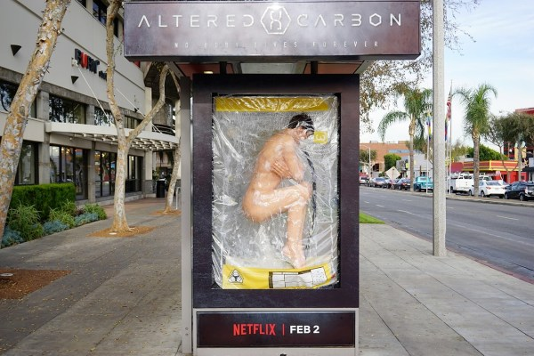The bus shelters scored 15 million earned impressions for Netflix.
