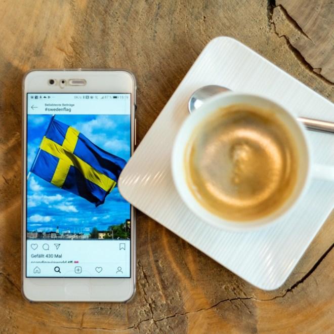 Fika - die schwedische Kaffeepause, mit Kaffee