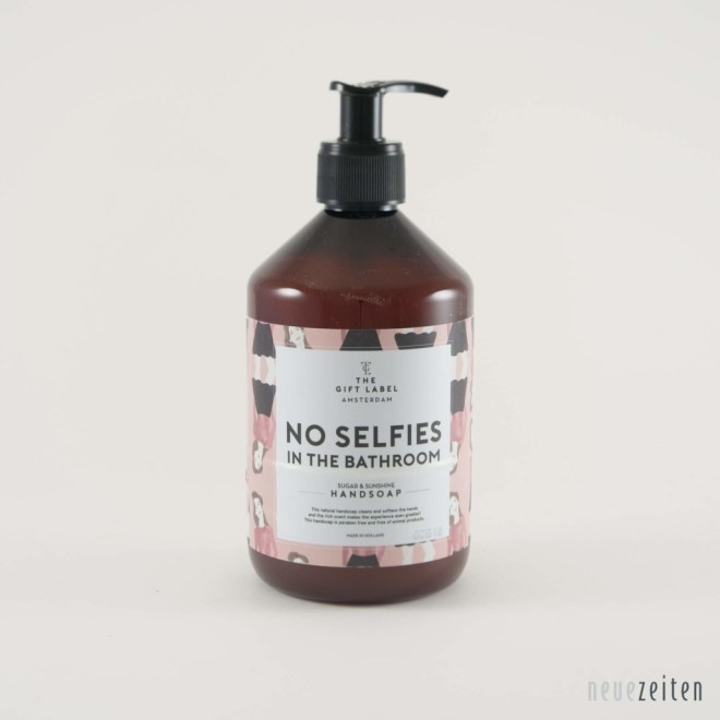 Produktbild - the Gift Label - Flüssigseife - no Selfies in the Bathroom