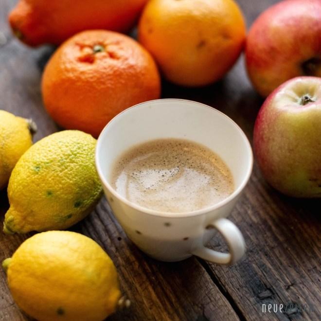 Kaffee & Erkältung - mit Orangen, Zitronen und Äpfeln