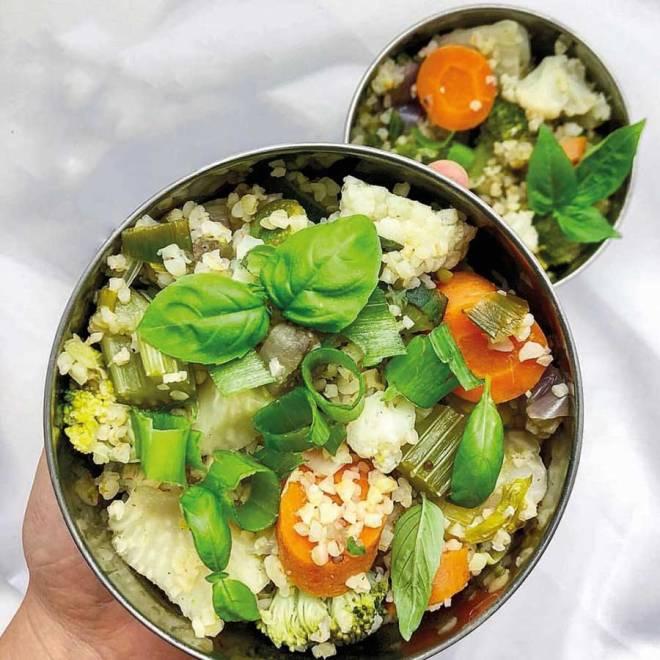 Bento-rounds mit Salat