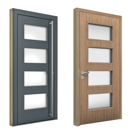 Aluminum Entrance Doors with Glass Inserts