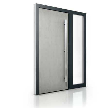 Modern Aluminum Exterior Entrance Doors with Sidelights