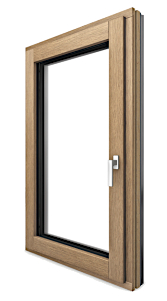 Wood Aluminum Clad European Tilt and Turn Windows Triple Pane Energy Efficient Windows Canada