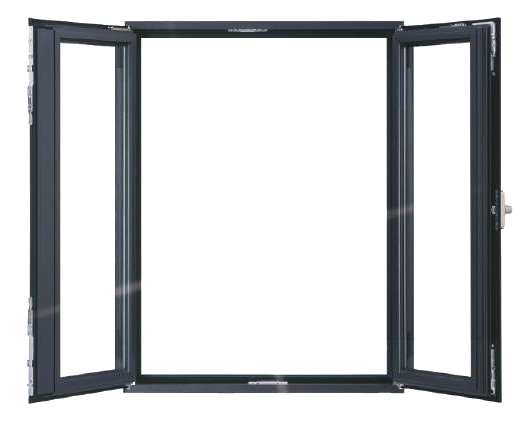 Tilt and Turn Triple Glazed Aluminum Windows with Moveable Mullion