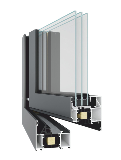 TM 77  High Performance Triple Glazed Aluminum Windows for Residential Homes NeuFenster Canada