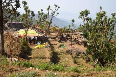 Karmidanda dorpje Nepal