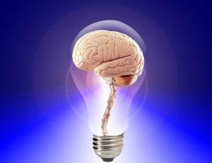 A brain in a light bulb