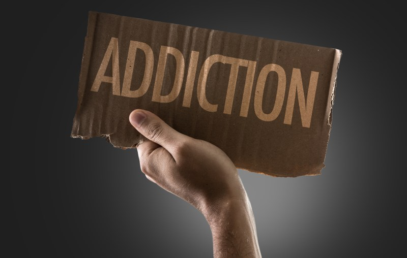 Sign that says Addiction