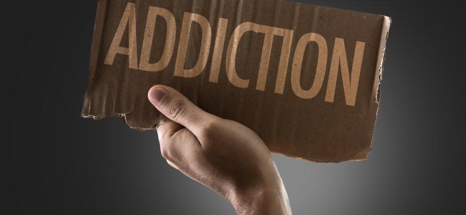 Sign that says Addiction