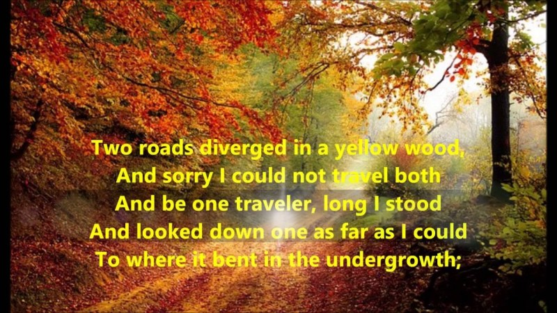 Quote from Robert Frost's The Road Not Taken