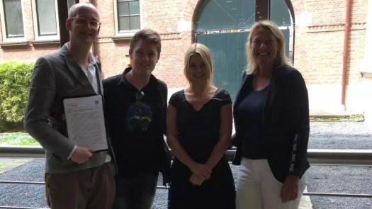 Neurodiversity Foundation with Merlin Blue, Ceo Tjerk, prikkelprofiel maker Saskia and politician Lisa