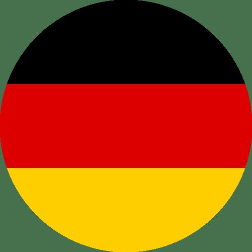 Bandeira redonda da Alemanha