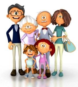 3D Happy family