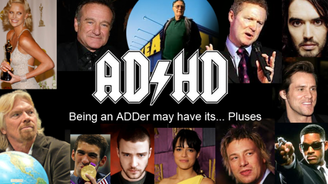 ADHD = Attention Deficit Hyperactivity and Disorder or Attention Difference Hyper Drive