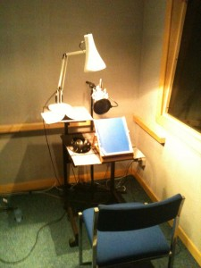 The vocal booth