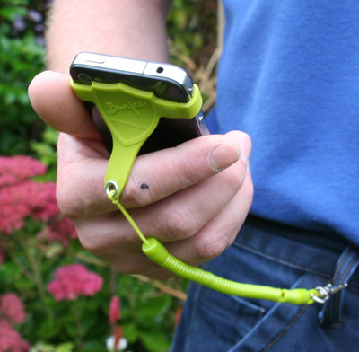 MyBunjee Strap-on for the accident prone and adrenaline junky phones