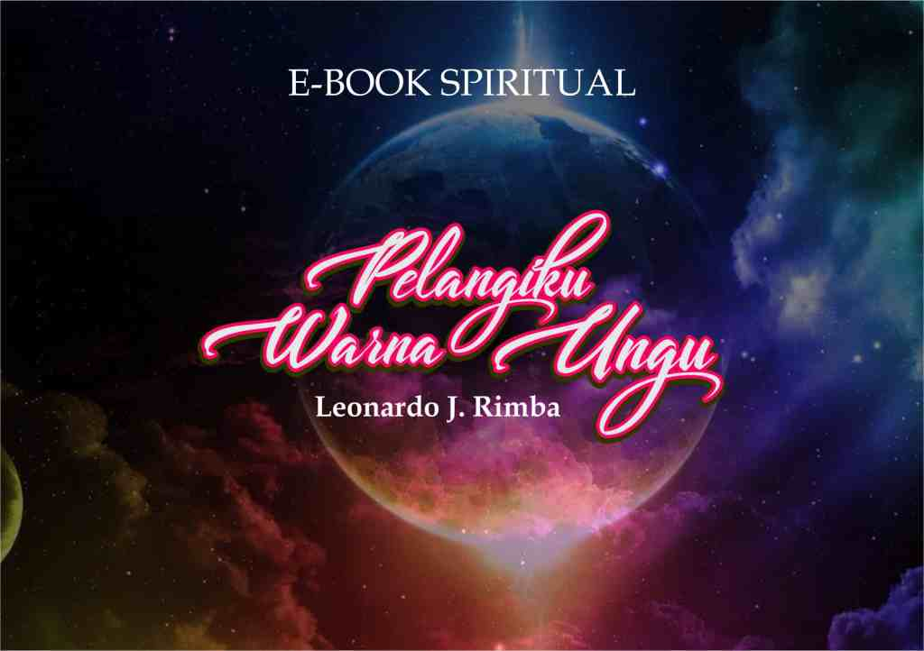 COVER E-BOOK SPIRITUAL - PELANGIKU WARNA UNGU - post