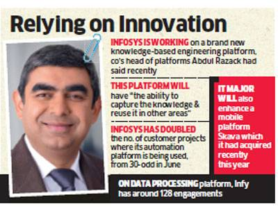 Infosys aims at meeting $20-billion target in revenue by 2020; bets on new software platforms for …