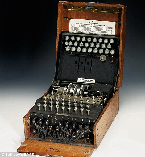 Enigma machine used by the Nazis to send coded messages during the Second World War sells …